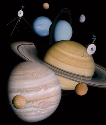 Solar system montage, created by Don Davis for NASA
